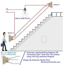 two way light switch diagram staircase wiring diagram דברים