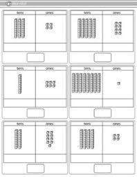 tens and units worksheets printable tens and ones place value worksheet worksheets math and