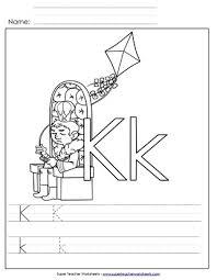 letter k worksheets recognize trace u0026 print