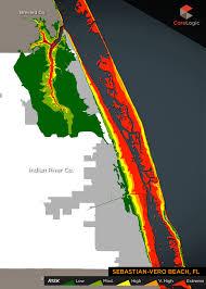 Vero Beach Florida Map by 2015 Storm Surge Maps