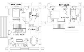 log cabin layouts log 1 2 bedroom idylwylde cabins