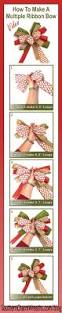 how to make a bow with multiple ribbons garlands wreaths and craft