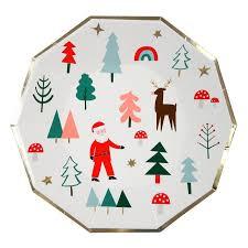 christmas plate meri meri large christmas plate 12 per pack from ocado