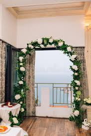 wedding arches inside wedding arch inside restaurants stock photo image 90361385