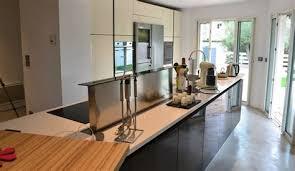 cuisine moderne en u cuisine amenagee en u 12 cuisine arrondie mineral bio