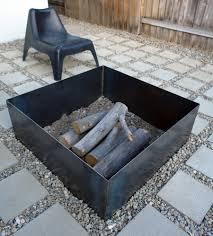 Steel Firepit View In Gallery Diy Square Steel Pit Metal Designs And