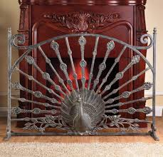 fireplace peacock fireplace screen fire screen home depot