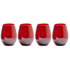 colored stemless wine glasses set of 4 christmas tree shops