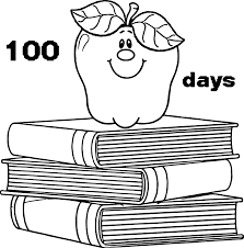 100 days apple books coloring page wecoloringpage