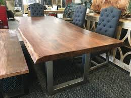 live edge round table incredible live edge dining table world plus consignment a furniture