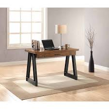 Writing Desk With Drawer by Whalen Industrial Writing Desk With Center Drawer Brown Walmart Com