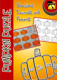 Equivalent Fractions Super Teacher Worksheets Pumpkin Puzzle Fractions Decimals And Percents Equivalent