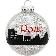rome skyline glass sparkle ornament www lapiazzadicarolina