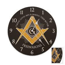Masonic Home Decor Amazon Com Freemason U0026apos S Wall Clock Black By Sigma Impex Home