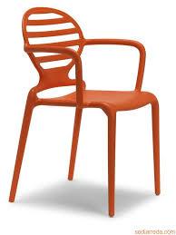Orange Armchair Cokka P 2280 Technopolymer Armchair In Different Colours