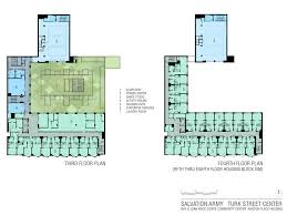 Dance Studio Floor Plan Salvation Army Community Spaces Hcla