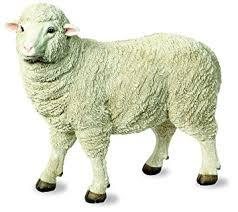 large merino sheep ornament resin ewe garden ornament co