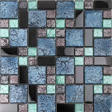 Best Metal Glass Tiles Images On Pinterest Glass Tiles - Teal glass tile backsplash