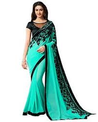 indian ethnic designer saree wear sari skyblue