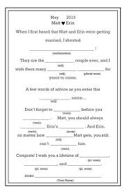 wedding mad libs mad libs wedding college park diy favors guestbook madlibs2