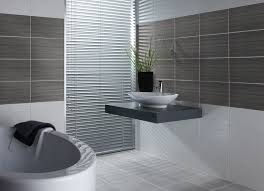 contemporary bathroom design with grey wall tiles idea paired with