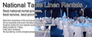 wedding party linen rental tablecloths skirts accessories