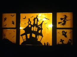 Halloween Window Lights Decorations - delightful lighted halloween window decorations part 6