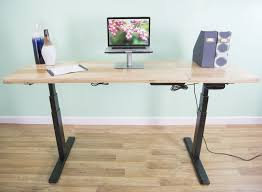 desk v100e vivo electric stand up desk frame only solid steel w