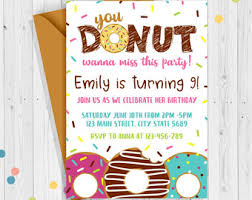 donut invitation etsy