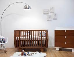contemporary arc floor lamp for nursery and wooden crib photos 22