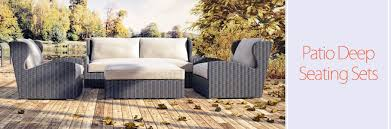 Deep Seating Patio Outdoor Patio Deep Seating Sets Home Furniture And Patio