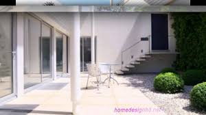 modern low house with zen garden and green roof design hd youtube