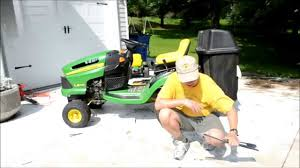 John Deere 48c Mower Deck Belt by How To Replace The Blades On A John Deere La Lawn Mower Tractor