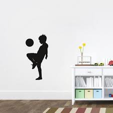 aliexpress com buy 2016 newly wall sticker kid plays football aliexpress com buy 2016 newly wall sticker kid plays football soccer vinyl decal removable boys bedroom art decor living room decoration from reliable