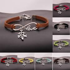 infinity charm bangle bracelet images 10pcs lot infinity love rn nurse charm bracelet bangles leather jpg