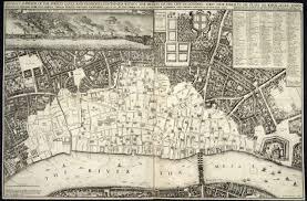 London Maps Great Fire Of London Map