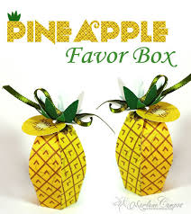 diy favor box template printable pineapple printable favor box gift favor birthday