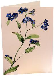 painting greeting cards in watercolor original blue forget me not flower watercolor painting han flickr