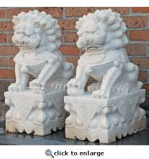 marble foo dogs asian decor pair of carved marble fu dogs from hebei province china