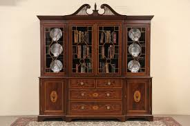 Break Front Bookcase Sold English Georgian Design 1890 U0027s Antique Breakfront Bookcase
