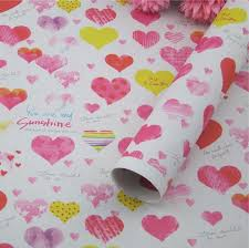 fancy wrapping paper gift wrapping paper 5sheets lot 60g fancy design heart shaped 52