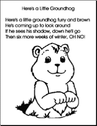 pin kindergarten fun groundhog printable