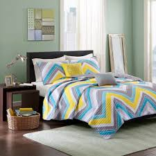 Coverlet Sets Bedding Eliana Zig Zag Coverlet Set Twin Twin Extra Long Multicolored