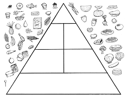 food pyramid coloring page cecilymae