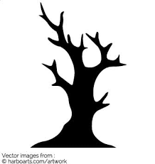 silhouette dead tree vector graphic