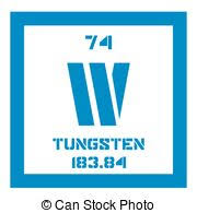Periodic Table Tungsten Clipart Vector Of Tungsten Chemical Element Also Known As Wolfram