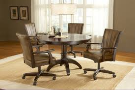 dining table with caster chairs alluring leather dining chairs with casters with dining table with