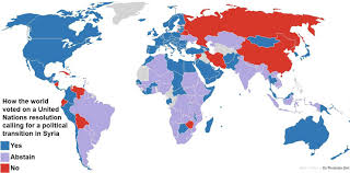 Syria On A Map map how the world voted on a u n resolution for political