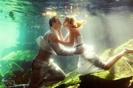 riviera maya photography cenote trash the dress underwater mermaid