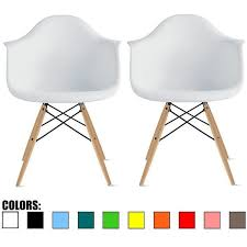 Overstock Armchair 2xhome Eames Chair Armchair With Arm Natural Wood Legs Dining Set